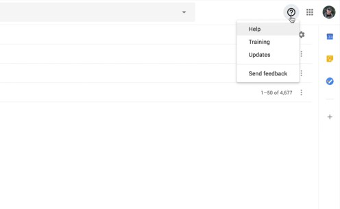 Google support button