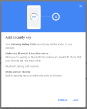 google android security key