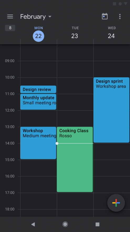 Google Calendar dark mode-1