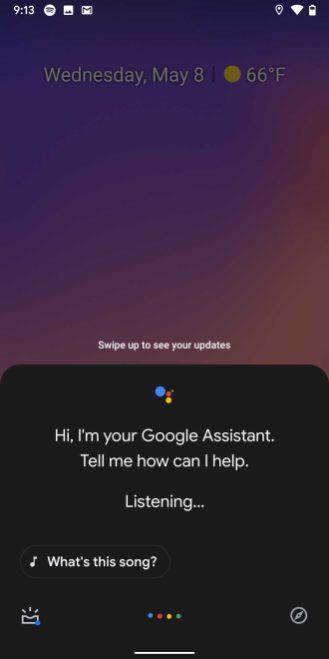google assistant dark