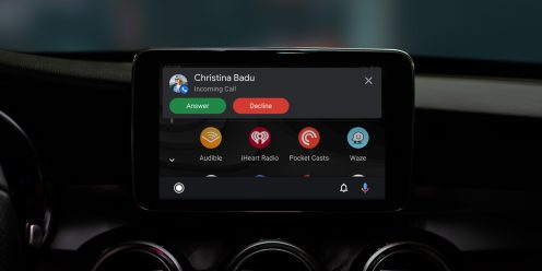 android auto redesign incoming call
