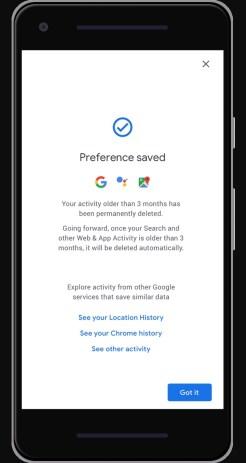 Google Account auto-delete data
