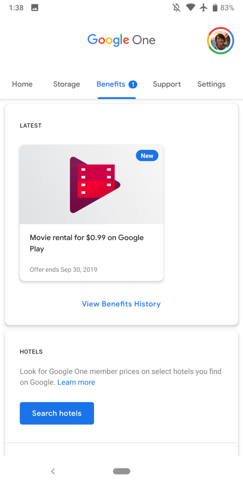 Latest Google One promo is a $ 99 Play Store movie rental