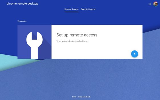 Chrome Remote Desktop web