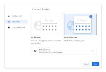 google-chrome-77-customization-shortcuts