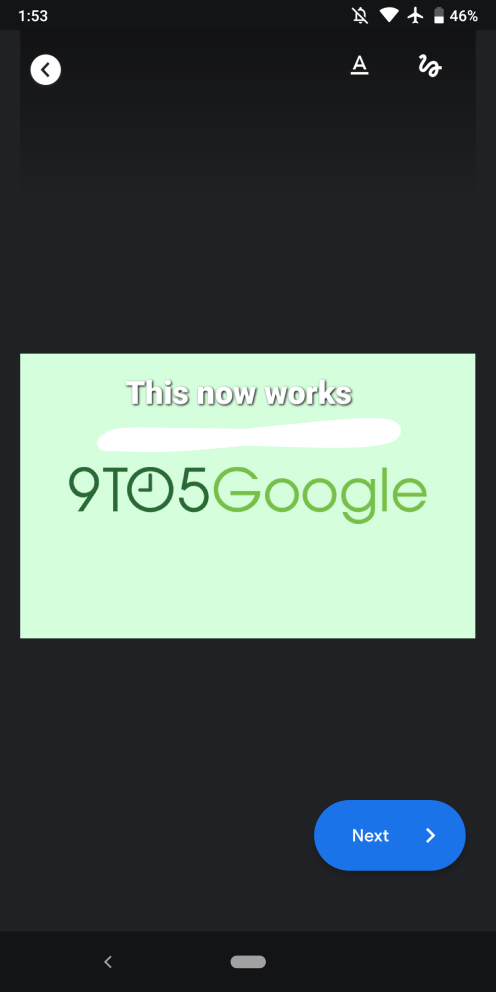 Google Duo message photos