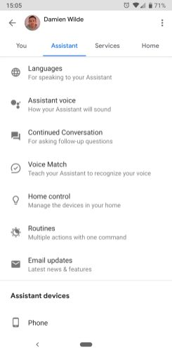 Google Home podcasts step 1