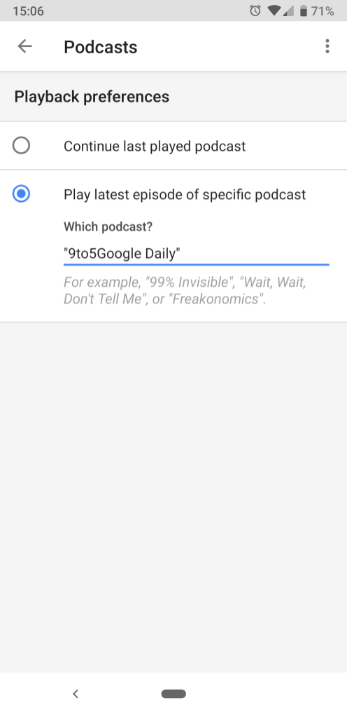 Google Home podcasts step 5