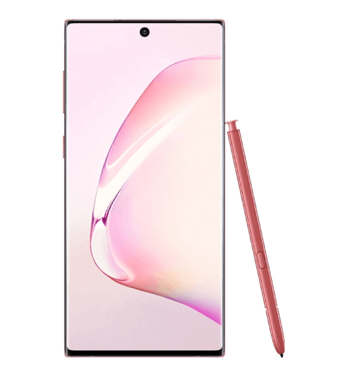 pink note 10 with s-pen
