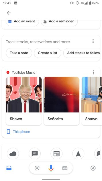 Google Assistant Updates music