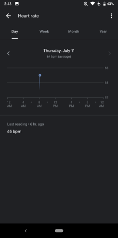 Google Fit dark theme