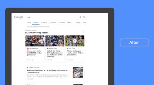 Redesign Tab for Google News