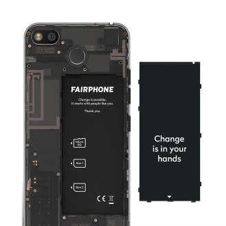 Fairphone 3 removable battery