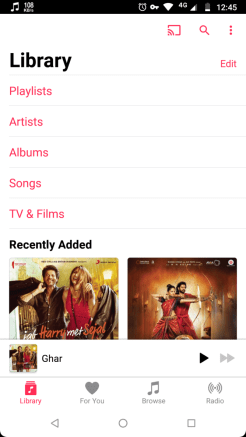 Apple Music for Android Chromecast support