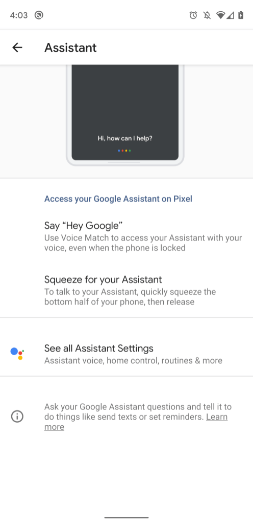 Google app 10 38 preps Pixel settings for Assistant, hints at Pixel