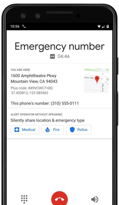 Google Phone emergency calling