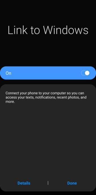 samsung link to windows on s9
