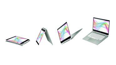HP Chromebook x360 14b_MineralSilver_CeramicWhite_Modes
