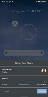 settings fast share setup