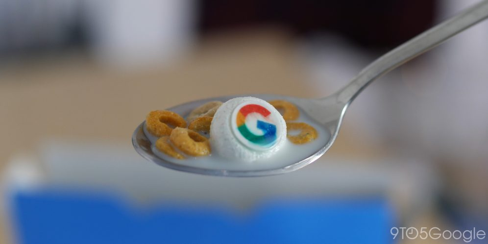 Google Cereal on spoon