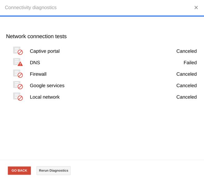 Chrome OS Connectivity Diagnostics