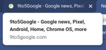 Google Chrome tab hover card