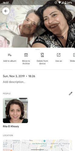google photos manual face tagging feature