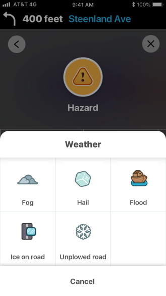 waze winter snow unplowed app update
