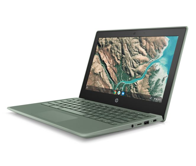 HP Chromebook 11 G8 EE_Sage Green_Front Left