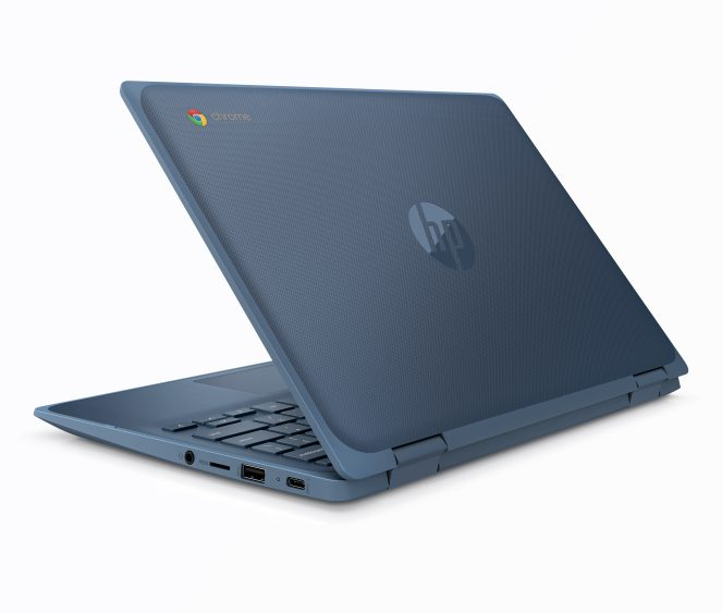 HP Chromebook 11 x360 G3 EE_Dusk Blue_Rear Left