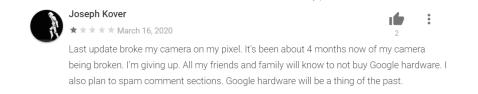 Google Camera negative reviews