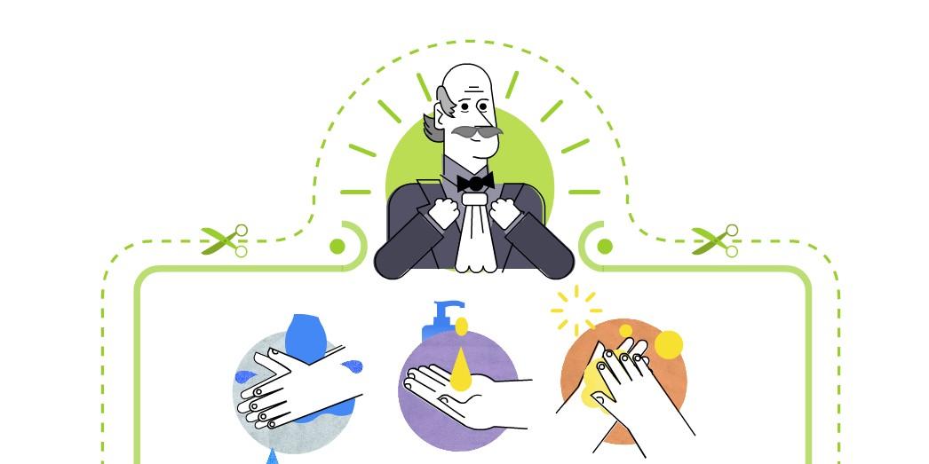 Google Doodle honors handwashing pioneer Dr. Ignaz Semmelweis