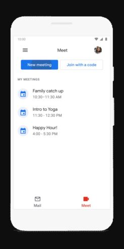 Gmail Android Meet tab-1