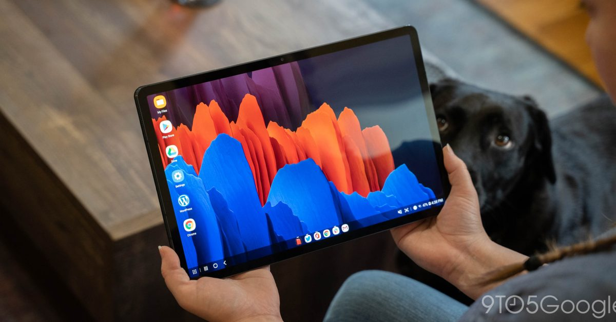 Galaxy Tab S7 gets video background, more w/ April update - 9to5Google
