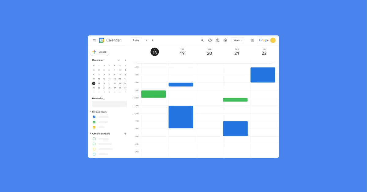 Google Calendar now lets you set split working hours, repeating OOO entries thumbnail