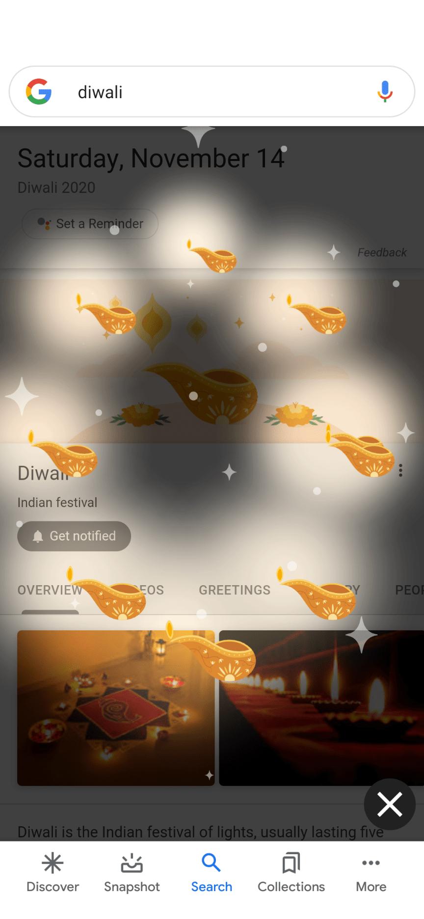 Google Search Diwali 2020 easter egg