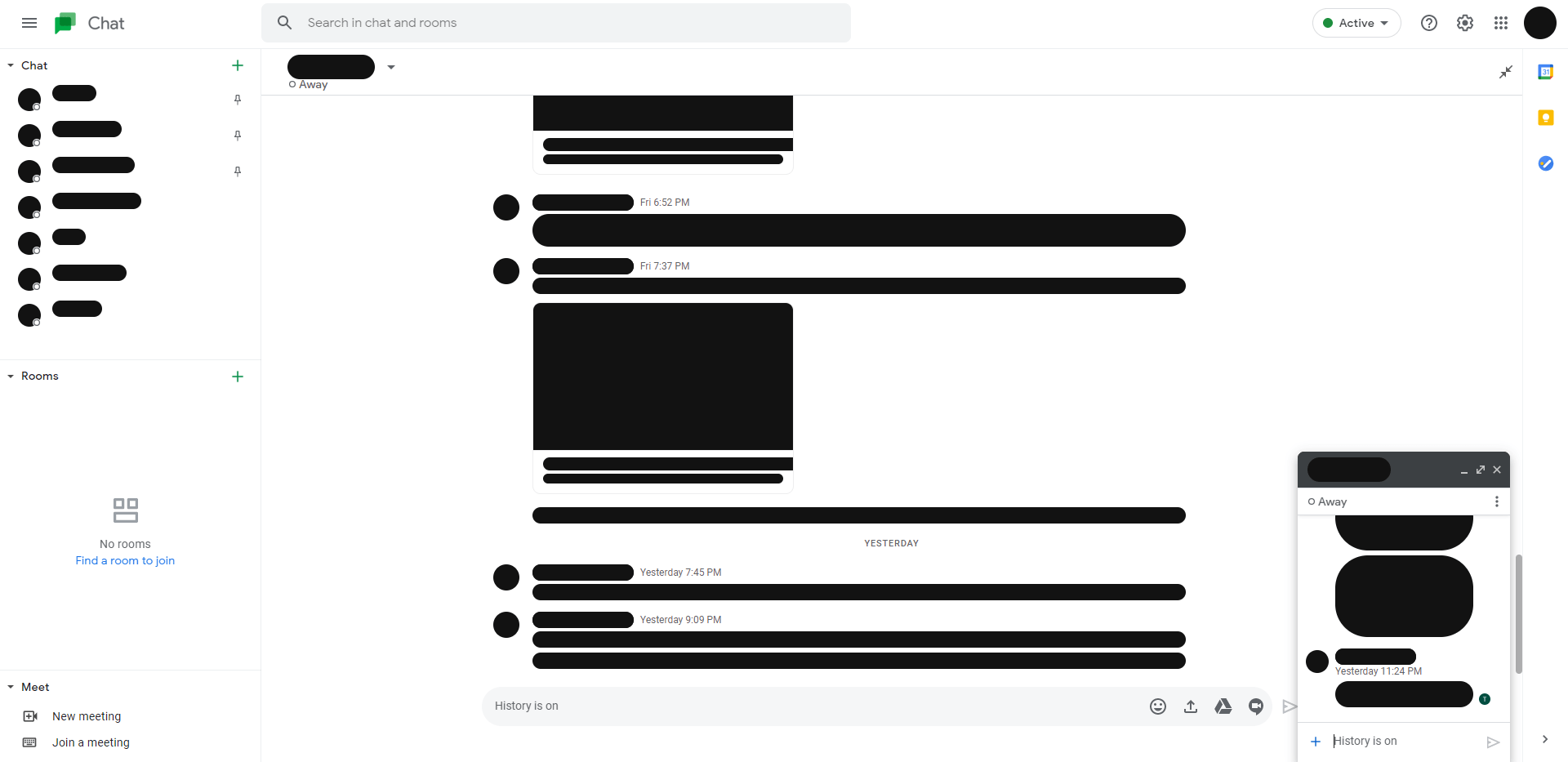 Google Chat web redesign