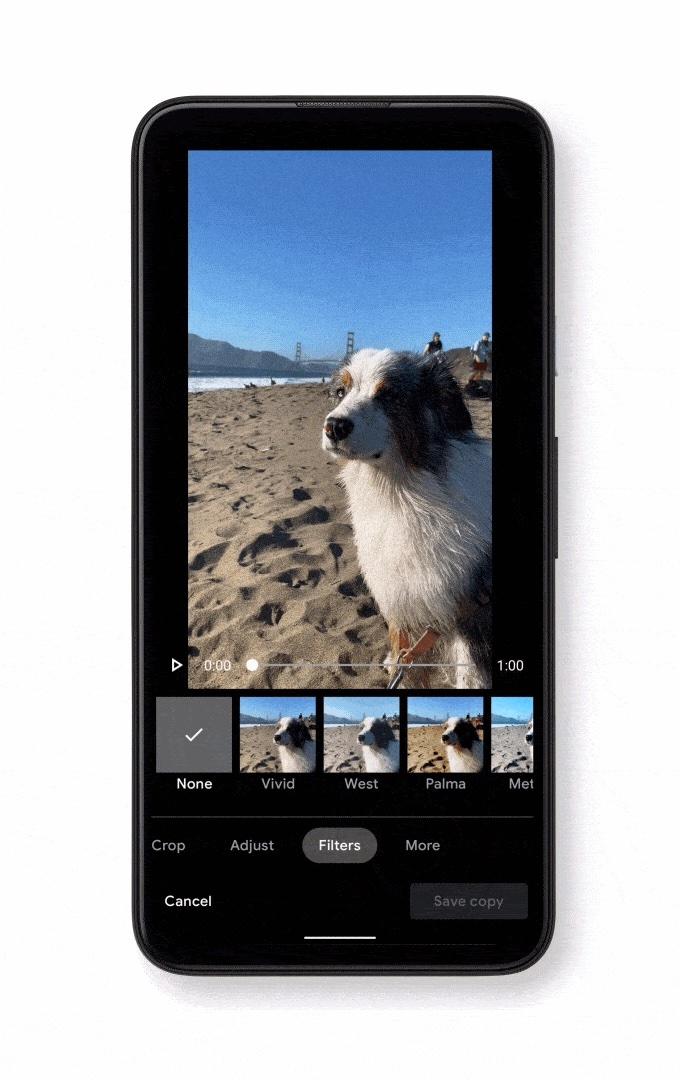 Google Photos video editor