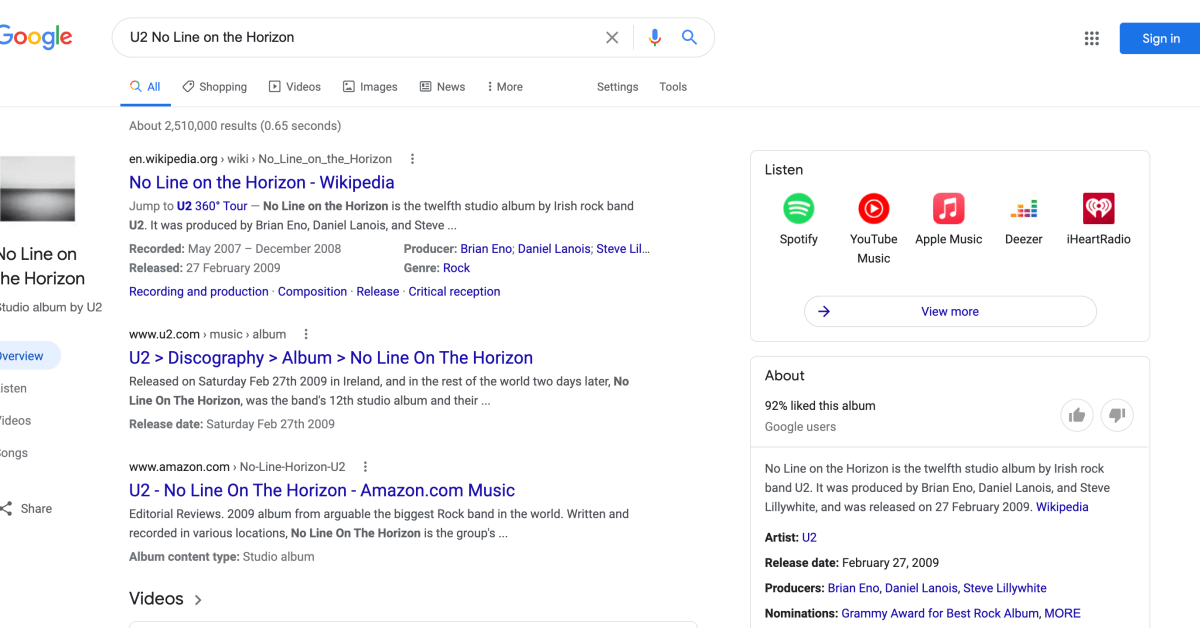 Google brings desktop Search redesign to music queries - 9to5Google