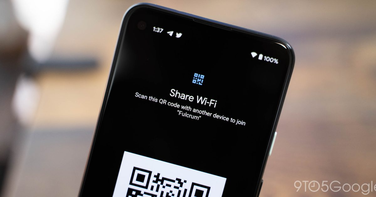 Android 12 using Nearby Share for WiFi Passwords - 9to5Google