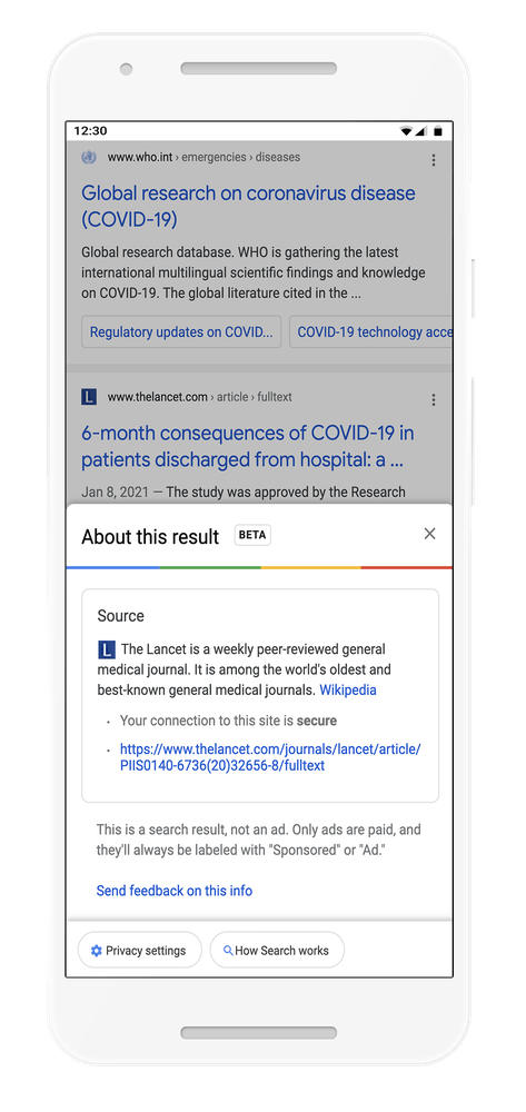 Google About this result