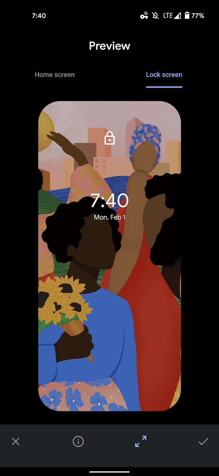 Google Pixel wallpaper Curated Culture