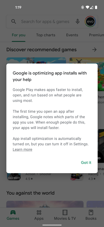 Google Play App install optimization