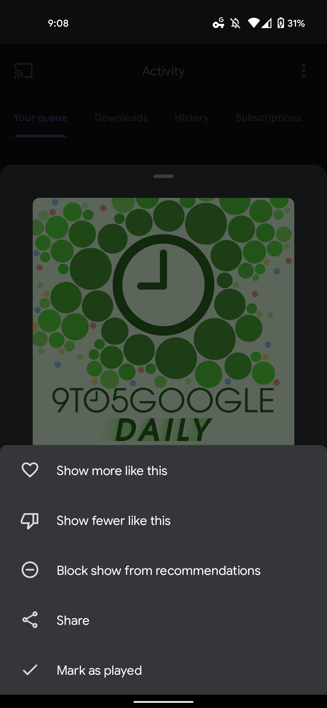 Google Podcasts customize recommendations-