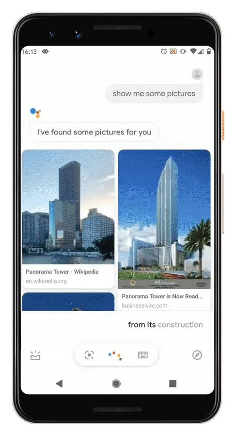 Google Assistant context