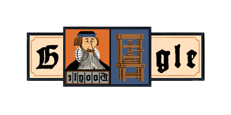 Johannes Gutenberg: Google honors printing press inventor ...