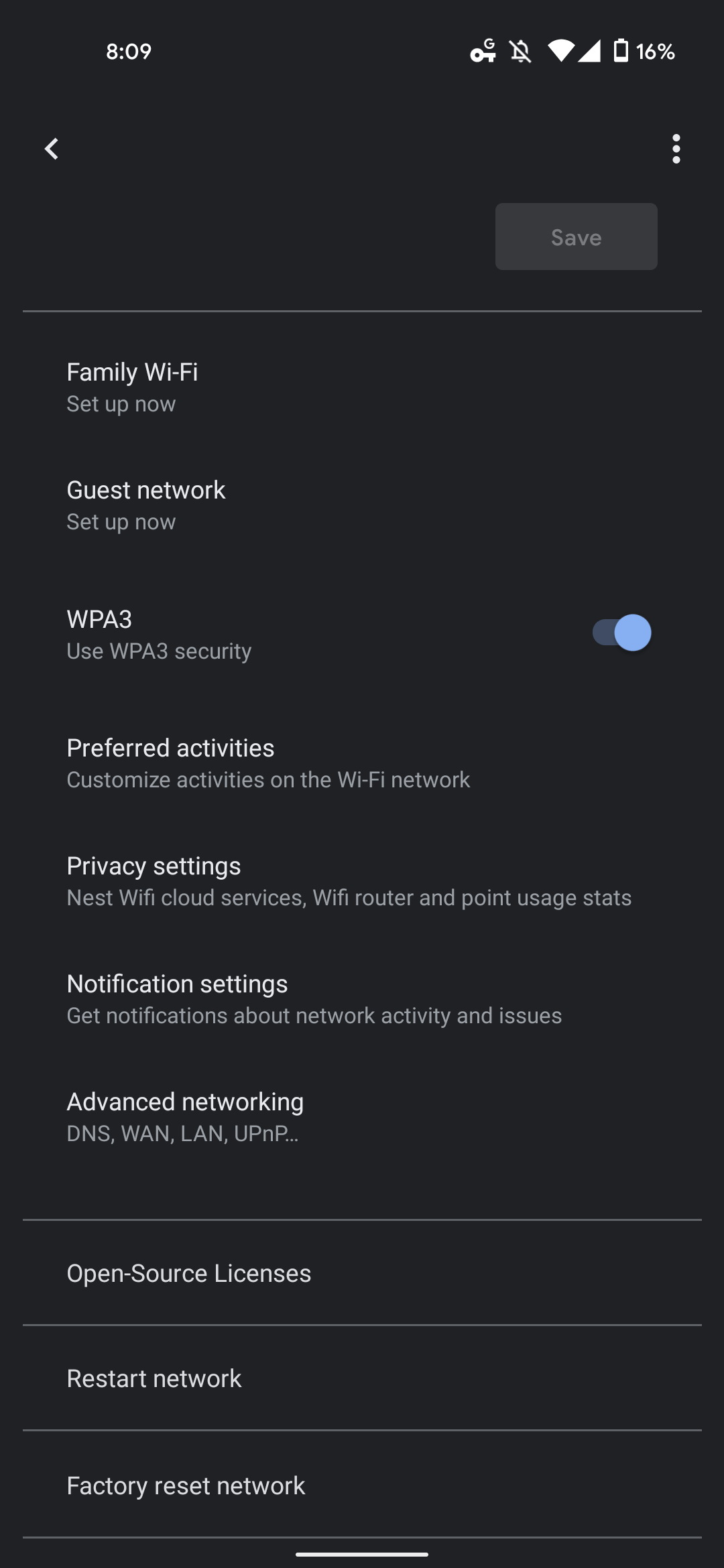 Google Home Wifi notifications
