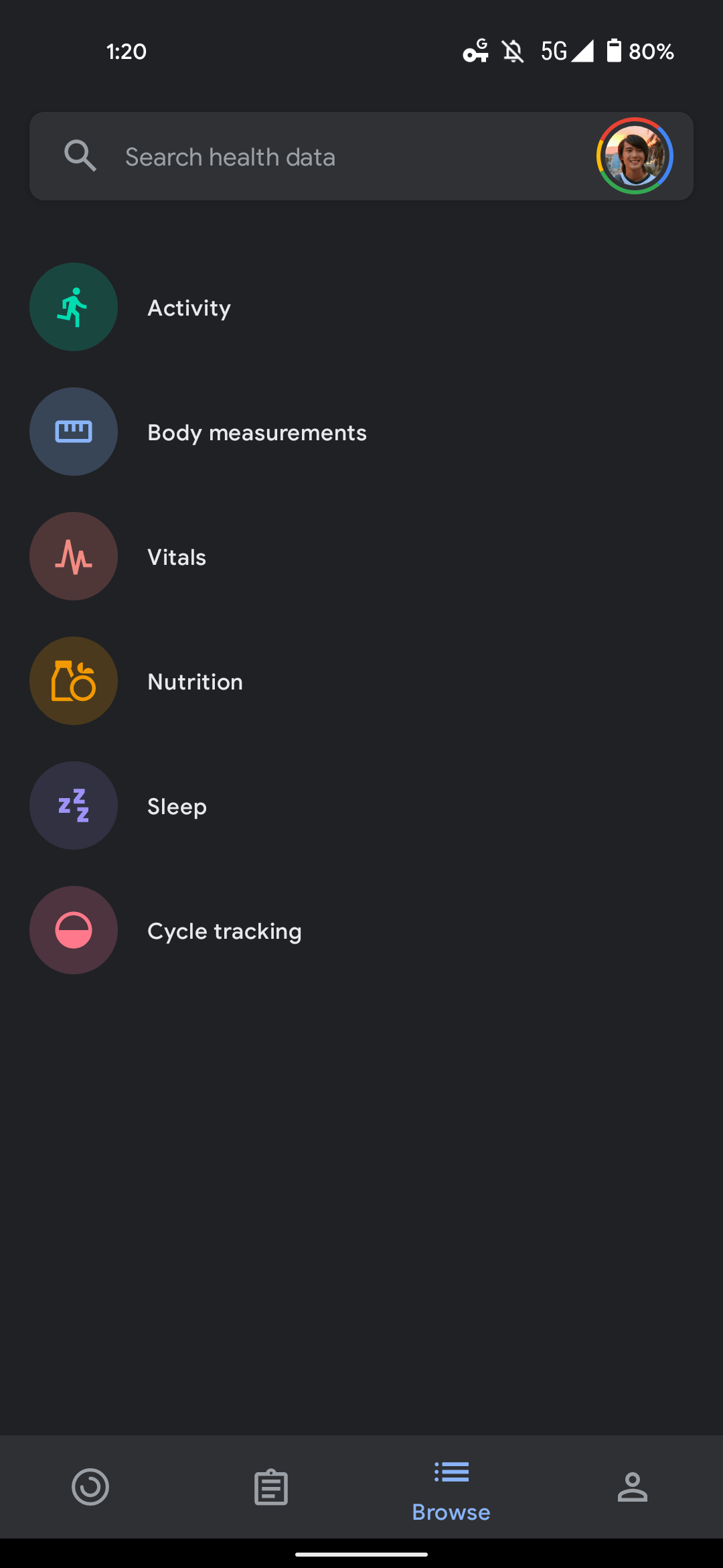 Google Fit Browse
