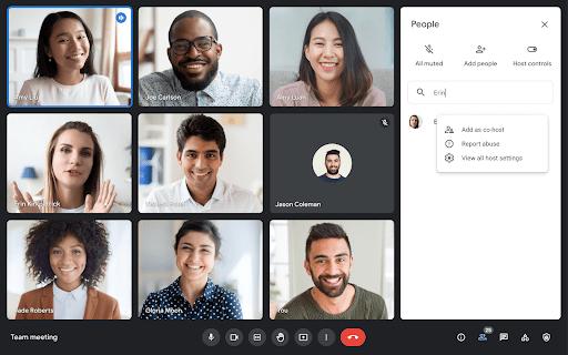 Google Meet co-hosts