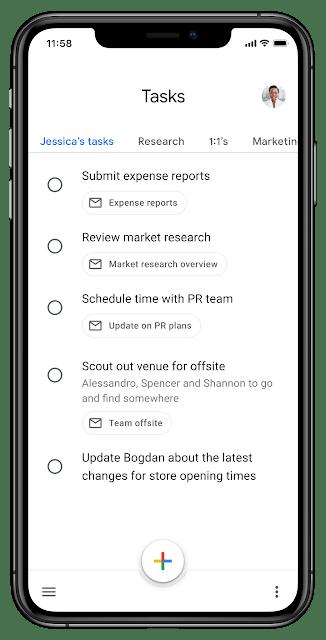 Google Tasks redesign